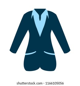 vector business women suit illustration - design sign. silhouette