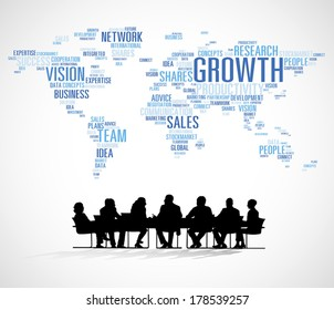 Vector of Business World Growth Meeting