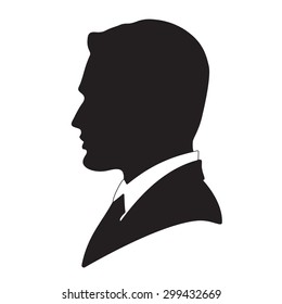 Vector businessman avatar profile picture