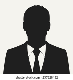 Vector businessman black silhouette