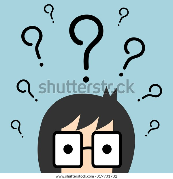 Vector businessman with question mark over his head, Illustration EPS10