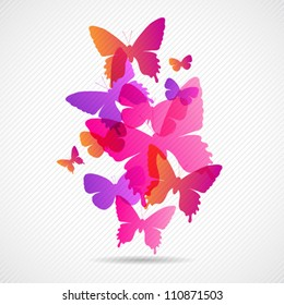 Vector butterflies background design. Colorfull EPS 10 concept.