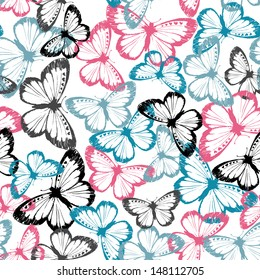 Vector Butterfly Camouflage Seamless Repeat