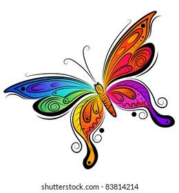 Vector Butterfly Design. Vector illustration.