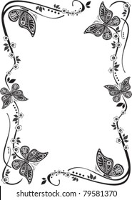 Vector butterfly frame