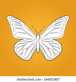 Vector butterfly icon