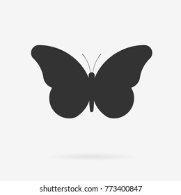 Vector butterfly icon. Clean minimalistic pictogram design.