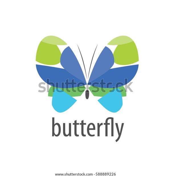vector butterfly logo