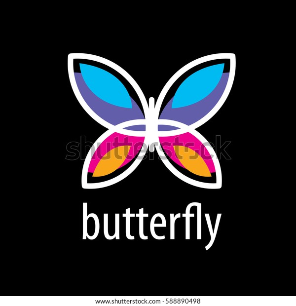 vector butterfly logo