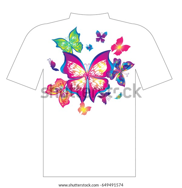graphic regarding T Shirt Pattern Printable named Vector Butterfly Practice Printable Summer months Outfits Inventory