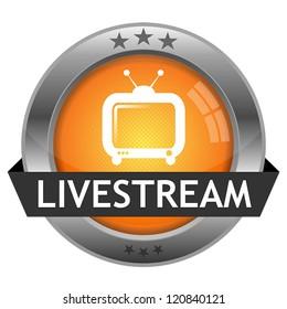 Vector Button Livestream