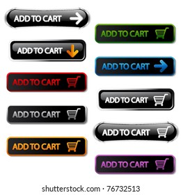 Vector buttons - add to cart