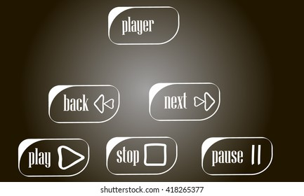 Vector buttons for player