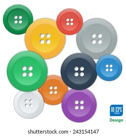 vector buttons studs fashionable element