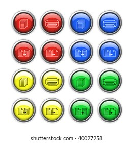 Vector buttons for web design.