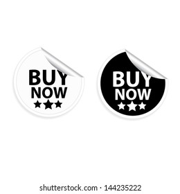 Vector. Buy Now stickers and labels set.