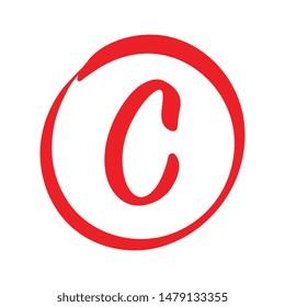 Vector C Red Grade Mark