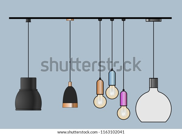 Vector Cad Blocks Style Set Pendant Stock Vector (Royalty