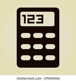 vector calculator icon vector calculator icon