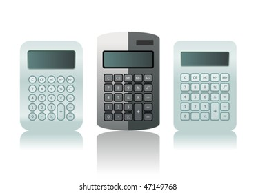 Vector  calculator icon set
