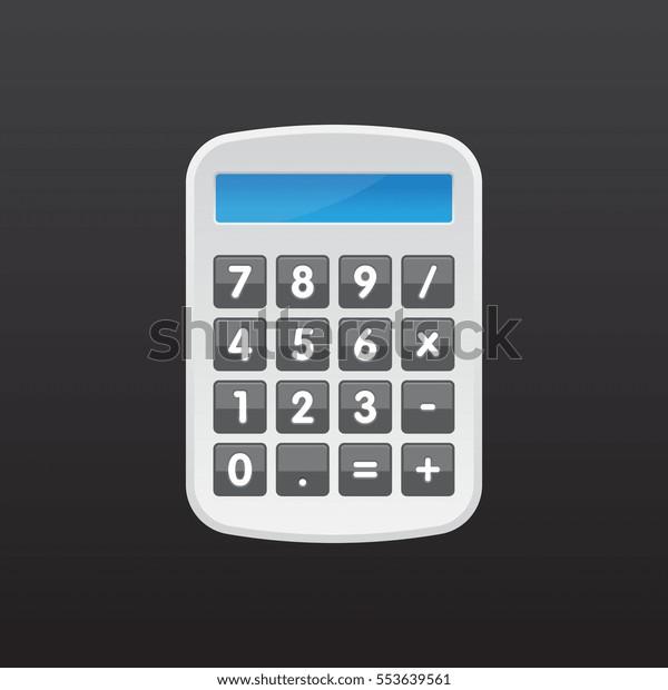 Vector Calculator Illustration Stock Vector (Royalty Free) 553639561