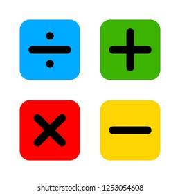 vector calculator keys icon