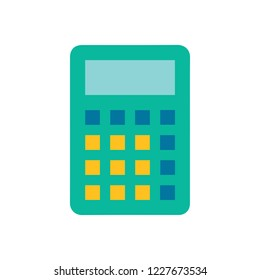 vector Calculator symbol - mathematics illustration sign isolated, Calculator icon