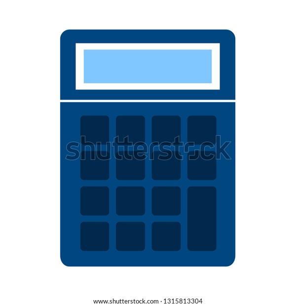 Vector Calculator Symbol Mathematics Illustration Sign Stock Vector