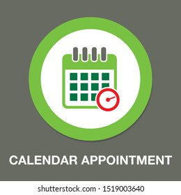 vector calendar - appointment icon - date symbol