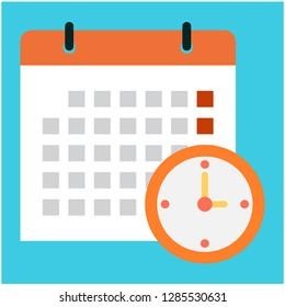 Calendario Vectorizado.Ilustraciones Imagenes Y Vectores De Stock Sobre Reloj Y