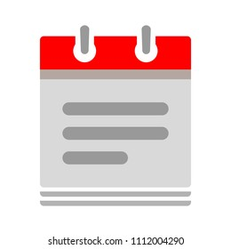 vector calendar date - date notes - business office event sign, reminder icon
