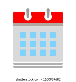 vector calendar date sorting - business office event sign, reminder icon