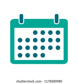 vector calendar event reminder, web year calendar illustration - date sign symbol