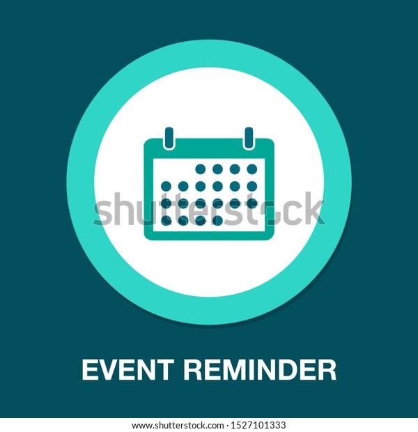 vector calendar event reminder, web year calendar illustration - date sign symbol
