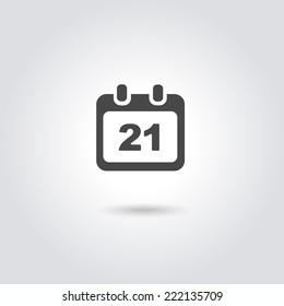 Vector Calendar Icon with date