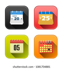 vector calendar icons - event date symbol - time reminder icons