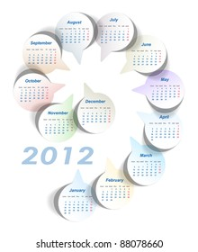 Vector calendar (week starts on Monday)