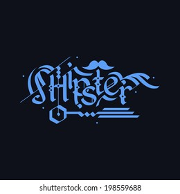 Vector Calligraphic Inscription Hipster In Graffiti Style