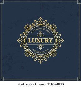Vector calligraphic logo template. Luxury retro monogram. Vintage design element.