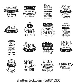 Vector calligraphy. Hand drawn lettering collection. Vintage illustration.