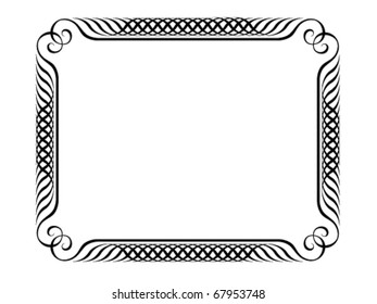 Vector calligraphy ornamental penmanship decorative frame, not trace use it by part