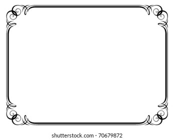 Vector calligraphy ornamental penmanship decorative frame