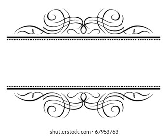 Vector calligraphy vignette penmanship decorative frame, not trace use it by part
