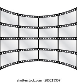 Vector cambered film strips. Background. Eps 10 vector file.