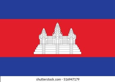 Vector Cambodia flag, Cambodia flag illustration, Cambodia flag picture, Cambodia flag image