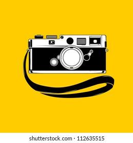 Vector camera. Easy to edit.