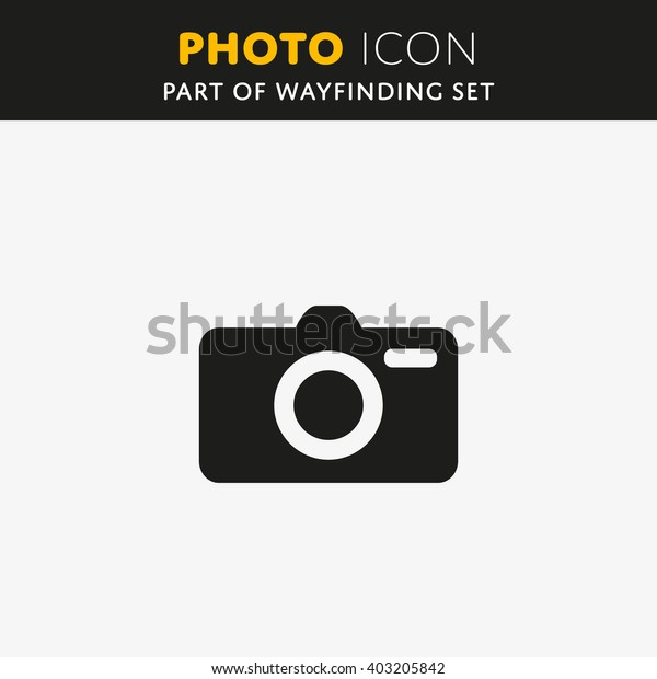 Vector Camera icon. Photo sign. Symbol Illustration EPS.