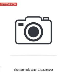 vector camera icon symbol flat style