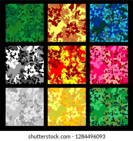 Vector Cammo Pattern different colors ilustration