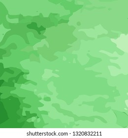 Vector camouflage military green background. Green abstract pattern.